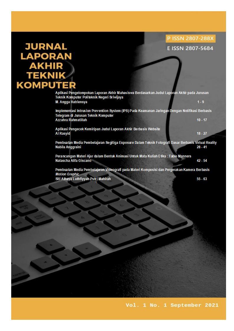 Jurnal Laporan Akhir Teknik Komputer