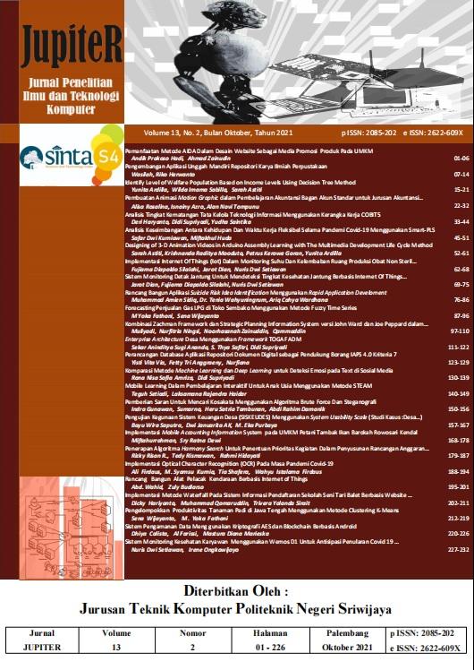 Lihat Vol 13 No 2 (2021): JUPITER  Edisi  Oktober  2021